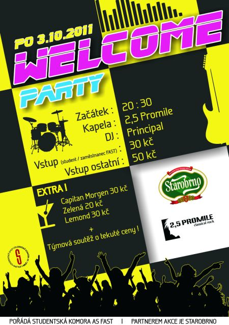 WELCOME PARTY FAST VUT