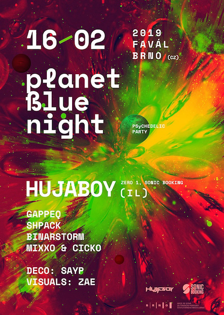 PLANET BLUE NIGHT w/ HUJABOY (ISR)